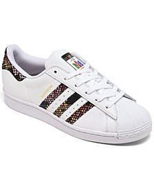 Women's Originals Superstar Snake Casual Sneakers from Finish Line
