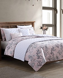 Farrington 8-Pc. Reversible Queen Comforter and Coverlet Set