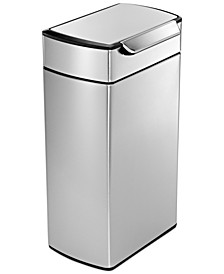Brushed Stainless Steel 40 Liter Fingerprint Proof Touch Bar Trash Can