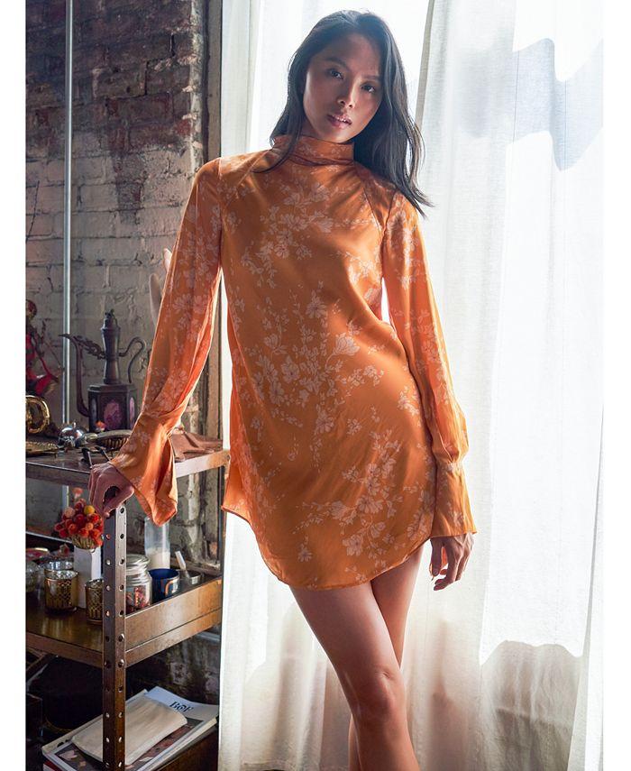 Free People - Aries Printed Cutout Mini Dress
