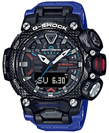 Men's Analog Digital Gravitymaster Connected Blue Resin Strap Watch 63mm