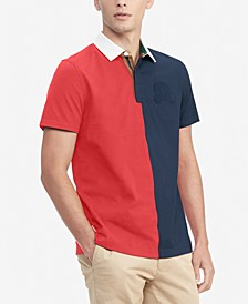 Men's Taft Custom-Fit Colorblocked Rugby Polo Shirt