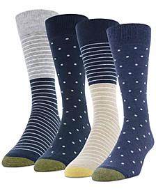Men's 4-Pack Dot Stripe Socks