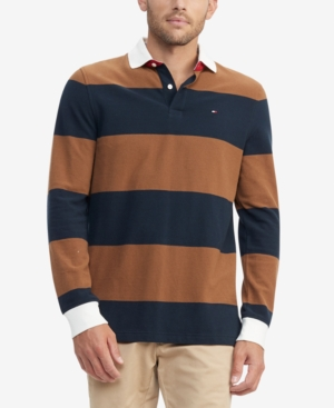 Tommy Hilfiger Men's Talmadge Custom-Fit Colorblocked Stripe Polo Shirt