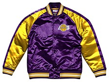 Men's Los Angeles Lakers Colorblock Lightweight Satin Jacket