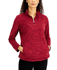 Petite Quarter Zip Microfleece Pullover, Created for Macy's