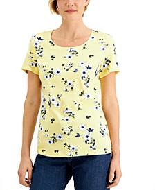 Daisy-Print Top, Created for Macy's