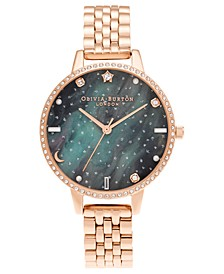 Women's Celestial Rose Gold-Tone Bracelet Watch 34mm