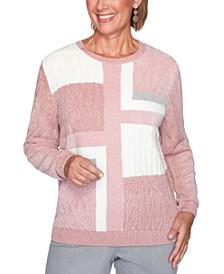 Petite Colorblocked Chenille Sweater