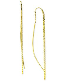 Textured Threader Earrings in 18k Gold-Plated Sterling Silver, Created for Macy's