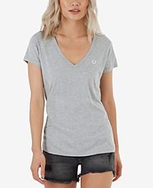 Women's TR Logo Short Sleeve V Neck Tee