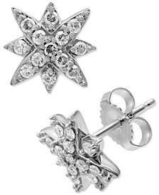 Diamond Star Stud Earrings (1/4 ct. t.w.) in 10k White Gold