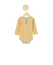 Baby Boys and Girls The Long Sleeve Placket Bubbysuit