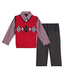 Baby Boys Arglye Sweater Vest Sett