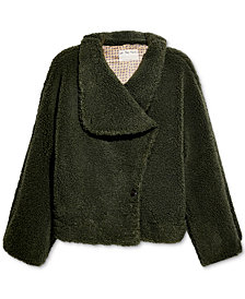 Free People Izzy Wrap Teddy Jacket