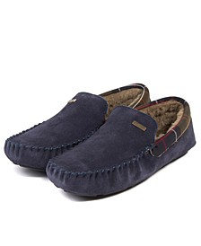 Men's Monty Faux-Shearling Moc-Toe Slippers
