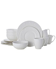 flamingo 16 pc dinnerware set, service for 4