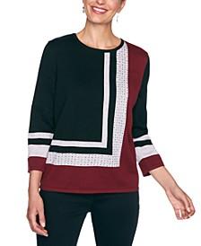 Petite Madison Avenue Colorblocked Sweater
