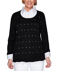 Petite Layered-Look Sweater