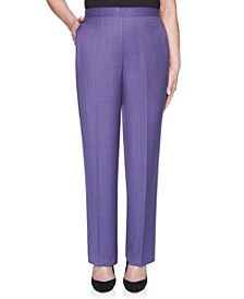 Petite Wisteria Lane Pull-On Mélange Proportioned Short Pants