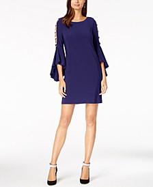 Embellished Bell-Sleeve Dress