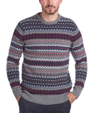 Men's Vintage Sweaters, Retro Jumpers 1920s to 1980s Barbour Mens Case Fair Isle Sweater $125.00 AT vintagedancer.com
