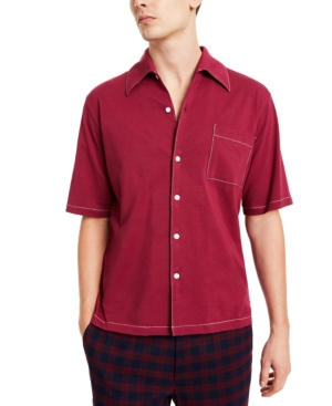 1960s Mens Shirts | 60s Mod Shirts, Hippie Shirts Collectif Mens Havana Short-Sleeve Shirt $68.00 AT vintagedancer.com
