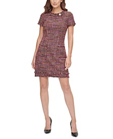 Aline Tweed Shift Dress