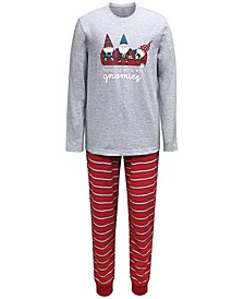 Matching Men's Gnomies Family Pajama Set, Created for Macy's