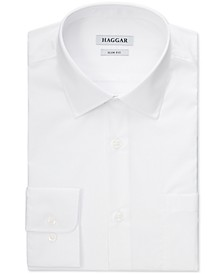 Men's Stretch Solid White Dress Shirt