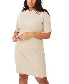 Trendy Plus Size Tahlia True Knit Mini Dress