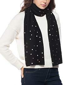 Cashmere Foil-Dot Muffler Scarf, Created for Macy's