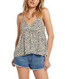 Juniors Sorry Babe Animal Print Camisole