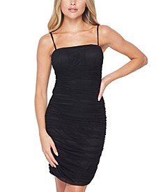 Juniors' Allover Ruched Dress