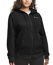 Plus Size Campus French Terry Hoodie