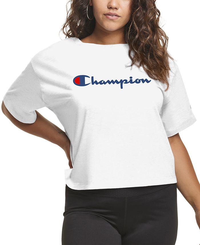 Champion - Plus Size Cropped Logo T-Shirt