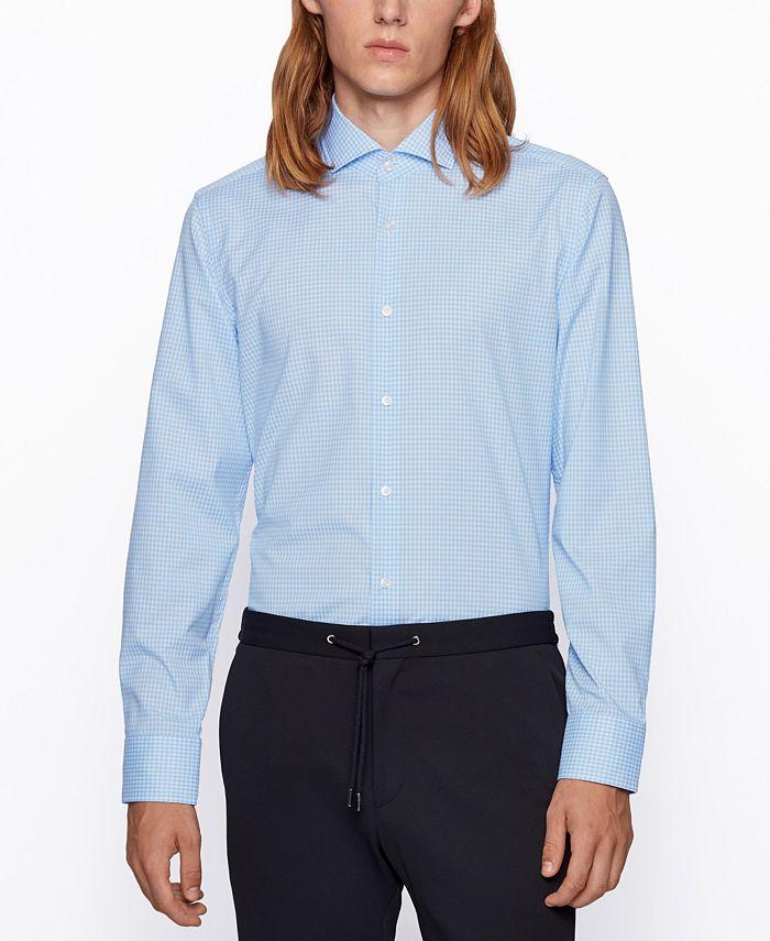 Hugo Boss - Men's Jason Slim-Fit Gingham Shirt