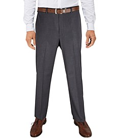 Men's Classic-Fit Ultraflex Stretch Gray Grid Dress Pants