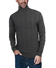Men's Cable Knit Roll Neck Sweater
