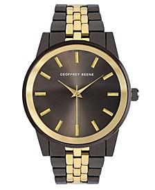 Men's Gold-tone Gunemetal Metal Alloy Bracelet Watch, 40 mm