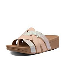 Women's Varont Glitter Toe-Thong Wedge Sandal