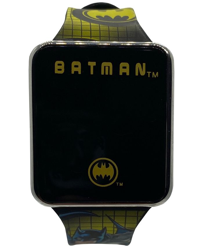 Accutime - Kid's Batman Silicone Strap Touchscreen Smart Watch 36x33mm