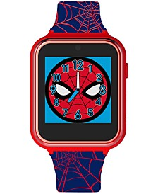 Kid's Spiderman Black Silicone Strap Smart Watch 46x41mm