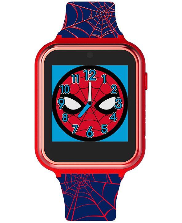 Accutime Kid's Spiderman Black Silicone Strap Smart Watch 46x41mm