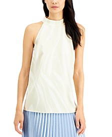 Petite Printed Halter Top, Created for Macy's