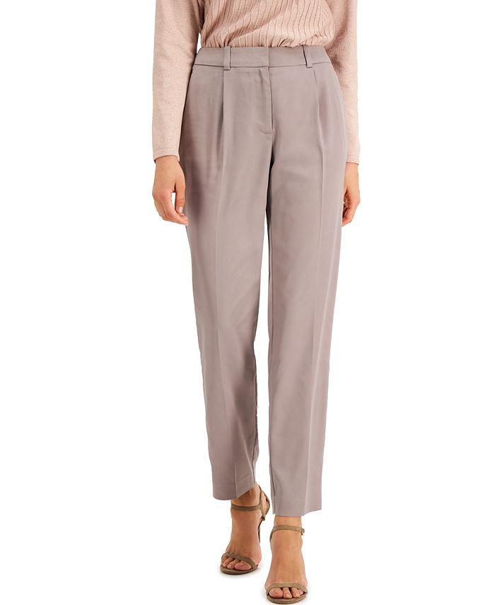 Alfani - Pleated Slim-Fit Pants, Created for Macy's