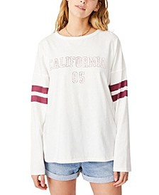 Women's Kyle Oversize Graphic Long Sleeve T-shirt
