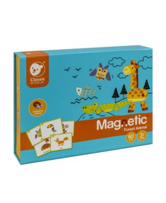 Classic World Toys Magnetic Forest Animal Play, 60 Piece Set