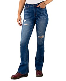 Juniors Distressed Flare Jeans