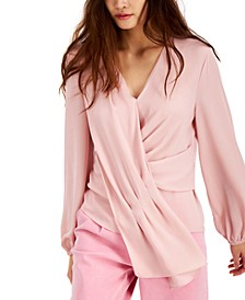 INC Drape-Front Top, Created for Macy's